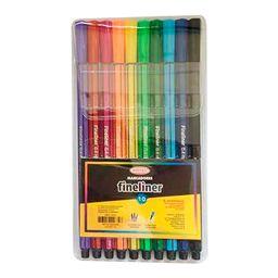 10 Fineliner Colores Surtidos Artel