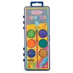 Estuche Acuarela 12 Colores Artel