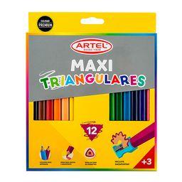 Estuche 12 Maxi Lápices De Colores Artel