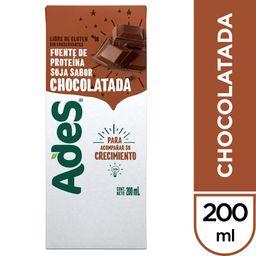 Bebida Vegetal Sabor Chocolate Soja Ades 200ml