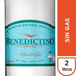 Agua Benedictino Sin Gas Botella 2Lt