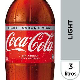 Bebida Coca Cola Light Botella 3Lt