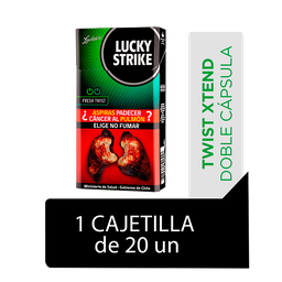 Lucky Strike Fresh Twist Cigarrillos Cajetilla 20Un