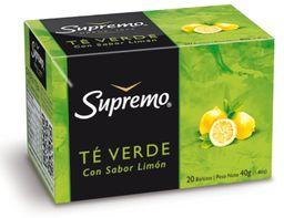 Te Verde Con Sabor Limon Supremo 20 Bols