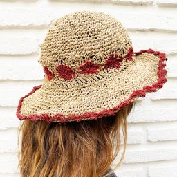 Sombrero Hemp - Flor Roja - Ekohemp
