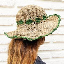 Sombrero Hemp - Flor Verde - Ekohemp