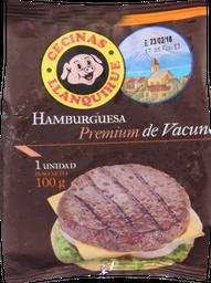 Hamburguesa Premium Vacuno Llanquihue 100 Gr