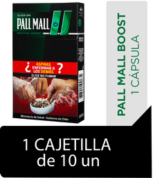 Pall Mall Boost Cigarrillos Cajetilla 10Un