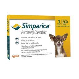 Dv Simparica 5 Mg(1-2,5 Kg) 1 Comp