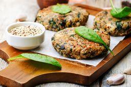 Hamburguesa vegetariana quinoa – kale