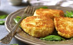 Hamburguesa vegetariana coliflor – queso