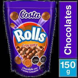 Rolls Crocante Centro Chocolate Costa 150 Gr
