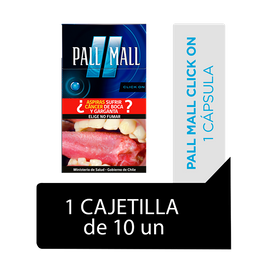 Pall Mall Click On Fresh Taste Blue Cigarrillos Cajetilla 10Un