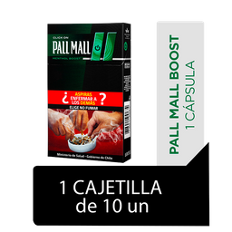Pall Mall Click On Menthol Boost Cigarrillos Cajetilla 10Un