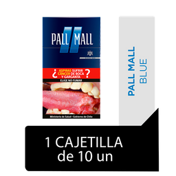 Pall Mall Blue Cigarrillos Cajetilla 10Un