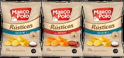 Promo 3x Papas Fritas Rústicas Marco Polo Variedades 185 gr