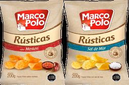 Promo 2x Papas Fritas Rustic Marco Polo 185G, Sal/Mar