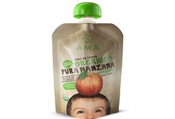 Puré de fruta manzana orgánico AMA