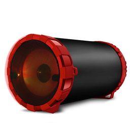 Parlante Microlab Zukabass + Micrófono Bluetooth Rojo