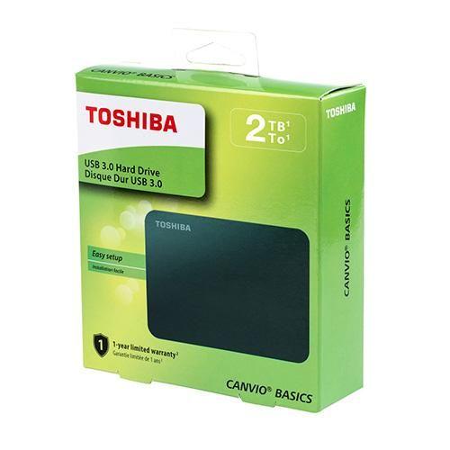 Disco Duro Toshiba 2Tb Canvio Basics Negro