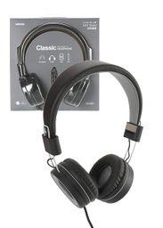 Audifonos De Diadema De Cable Gris/Negro