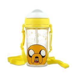Vaso De Plastico Con Popote Jake Amarillo 400 Ml