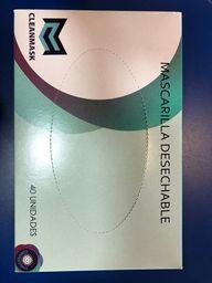 Mascarilla Plana Caja X 40 Cleanmask