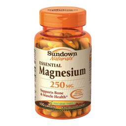 Suplemento alimenticio Sundown magnesium 250 mg, 100 capsulas
