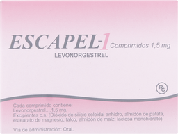Escapel Anticonceptivos Levonorgestrel 1 5Mg 1
