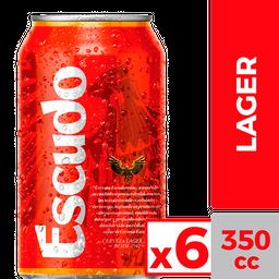 Escudo 6X Cerveza Lata
