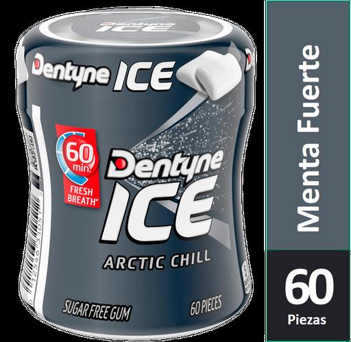 Dentyne Chicle Sin Azúcar Sabor Menta Fuerte 60 Un