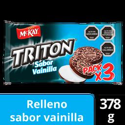 Mckay Triton Galletas Vainilla X 3 Und