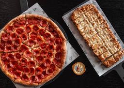Pizza Familiar con cheeseticks o bebida