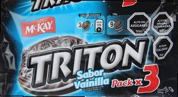 Galleta Mckay Triton Vainilla Pack 3x126 g