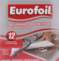 Eurofoil Papel Aluminio Protecion Cocina 29 X 30 Cm