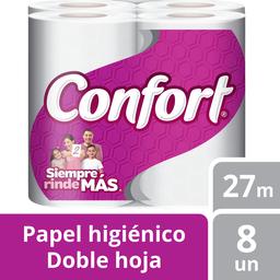 Papel Higiénico Confort Doble Hoja 27Mt 8 Un
