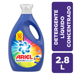 2 x Detergente Líquido Ariel Concentrado Revitacolor 2,8 l