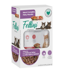 Pack Fellini (F) 2x pollo en salsa y 2x Mix Atun y Salmon