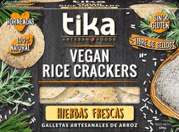 Tika Galletas De Arroz Con Hierbas Frescas