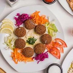 Hummus tahini con falafel (vegano)