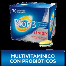 Bion3 Senior con Vitaminas, Minerales, Ginseng y Probióticos