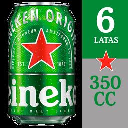 Heineken Six Pack Cerveza Lata 350Cc