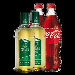 Promo 2x: Pisco Alto Del C. + Bebida 1,5 L