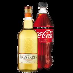 Pisco Tres Erres + Bebida 1,5 L