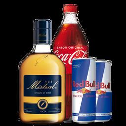 Mistral + Bebida 1,5L + 2 Red Bull