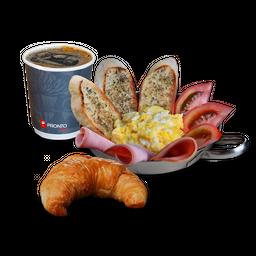 Paila Huevo + Medialuna + Café