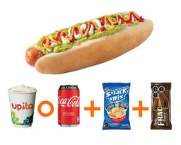 Combo Hot Dog 22Cms + Snack Mix Y Galletas Frac Clásica