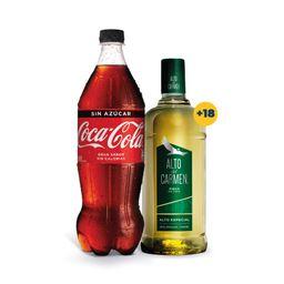 Promo: Pisco Alto del Carmen 35° 1Lt + Bebida Coca Cola 1.5L Var