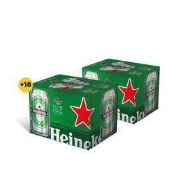 Promo: 2x Six Pack Cerveza Heineken Lata 355cc