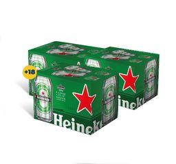 Promo: 3x Six Pack Cerveza Heineken Lata 355cc